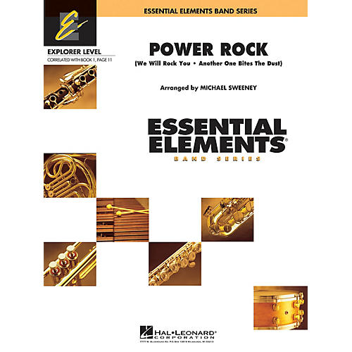 Hal Leonard Power Rock Concert Band Level 0.5 by Queen Arranged by Michael Sweeney-thumbnail