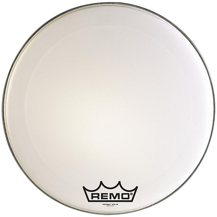 Remo Powermax Marching Bass Drum Crimplock Head Ultra White 22 Inch