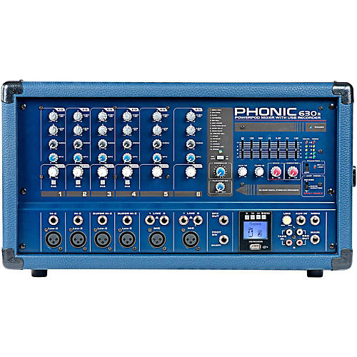 Phonic Powerpod 630R 300W 6-Channel Powered Mixer with USB Recorder-thumbnail