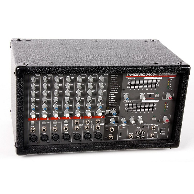 used phonic powerpod 740 plus 2x220w 7 channel powered mixer with digital effects musician 39 s. Black Bedroom Furniture Sets. Home Design Ideas