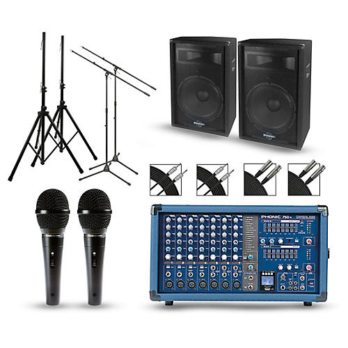 Phonic Powerpod 750R Mixer with S7 Speakers PA Package-thumbnail