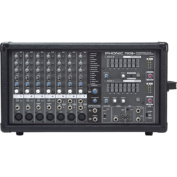 Phonic Powerpod 780 Plus 2X300W 7-Channel Powered Mixer with Digital Effects