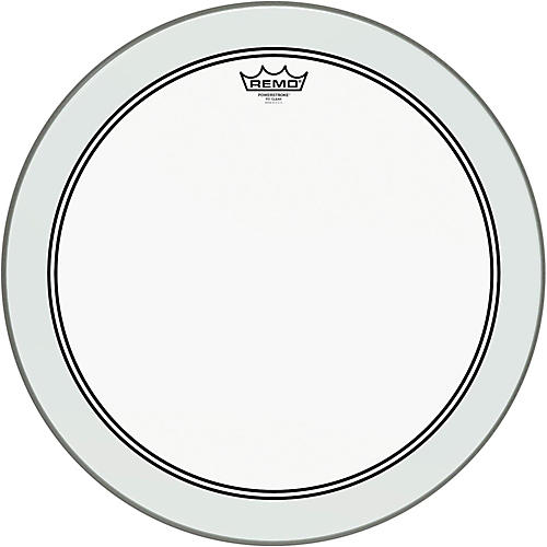 Remo Powerstroke 3 Clear Bass Drumhead with Impact Patch  18 in.