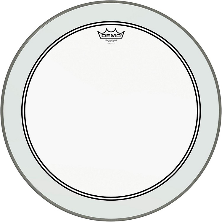 Remo Powerstroke 3 Clear Bass Drumhead with Impact Patch  24 Inches
