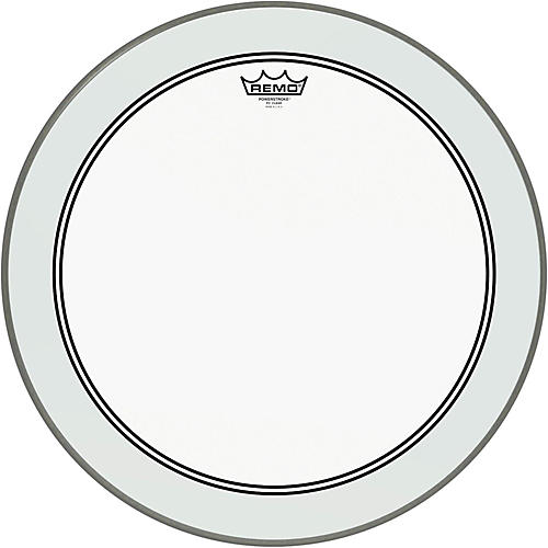 Remo Powerstroke 3 Clear Bass Drumhead with Impact Patch  22 in.