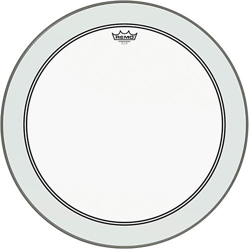 Remo Powerstroke 3 Clear Bass Drumhead with Impact Patch  24 in.
