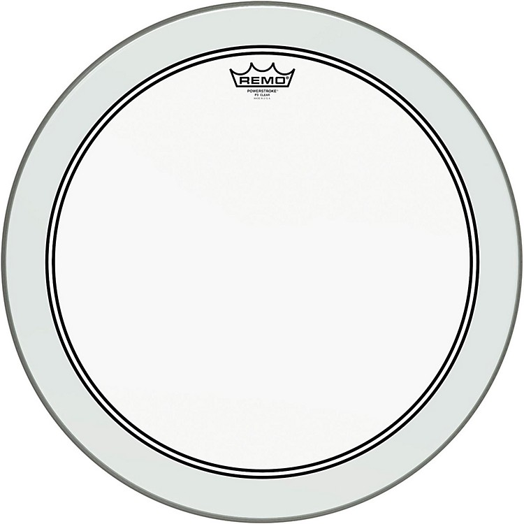 RemoPowerstroke 3 Clear Bass Drumhead with White Impact Patch18 Inches