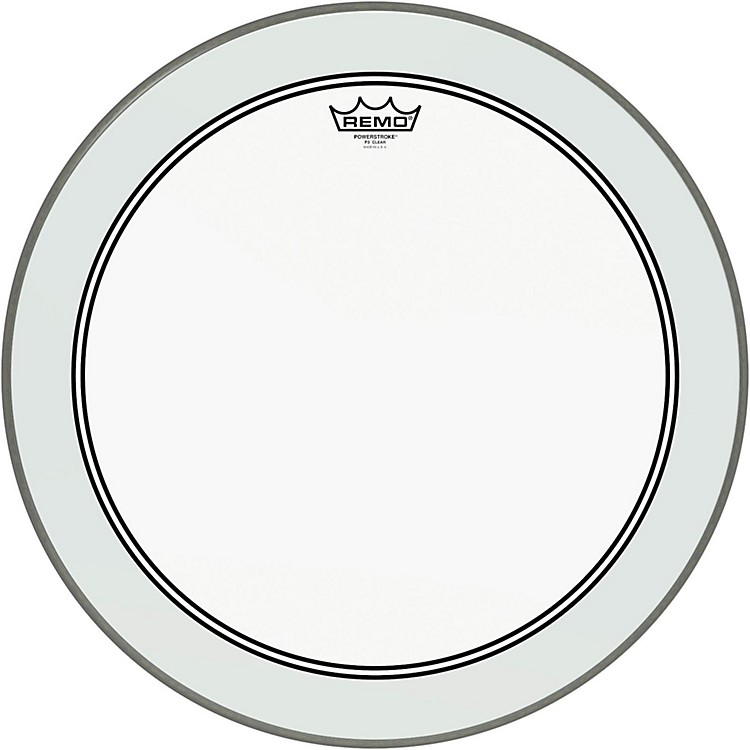 RemoPowerstroke 3 Clear Bass Drumhead with White Impact Patch20 Inches