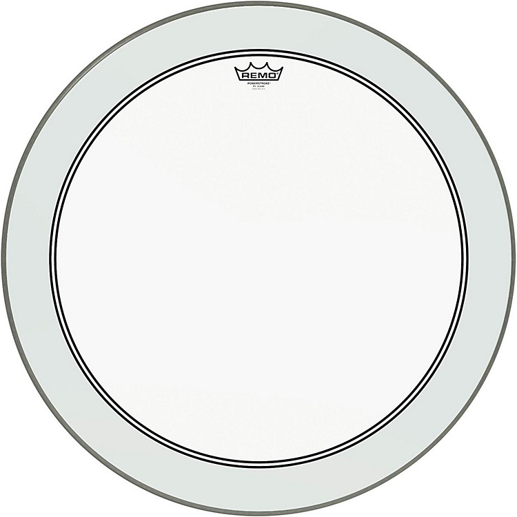 RemoPowerstroke 3 Clear Bass Drumhead with White Impact Patch26 Inches