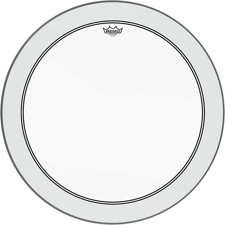 RemoPowerstroke 3 Clear Bass Drumhead with White Impact Patch