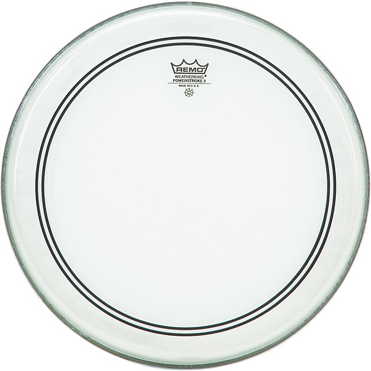 Remo Powerstroke 3 Clear with Dot Batter 13