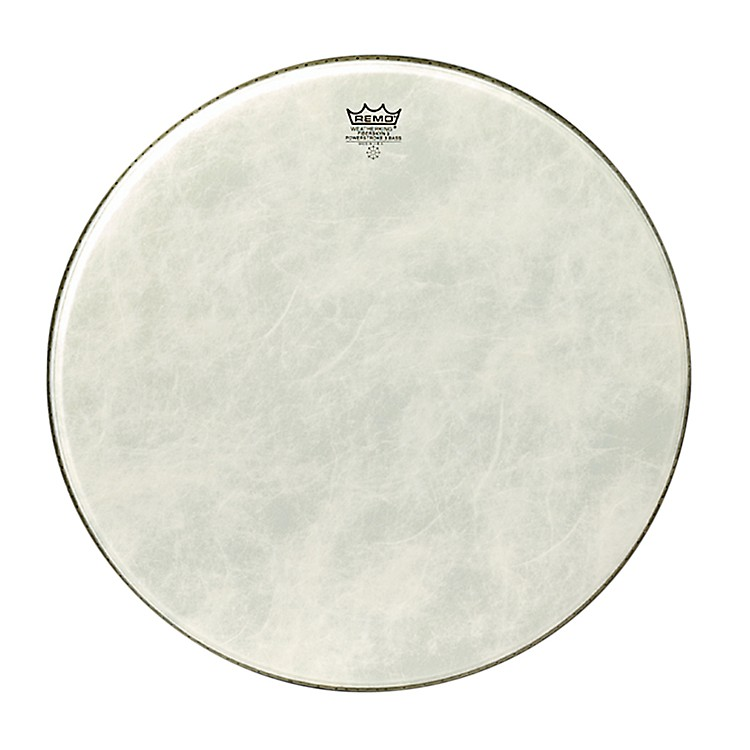Remo Powerstroke 3 Simulated Calfskin Fiberskyn FA Bass Drumhead  18 Inches