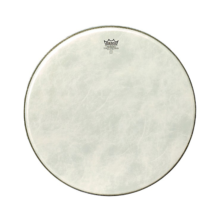 Remo Powerstroke 3 Simulated Calfskin Fiberskyn FA Bass Drumhead  24 Inches