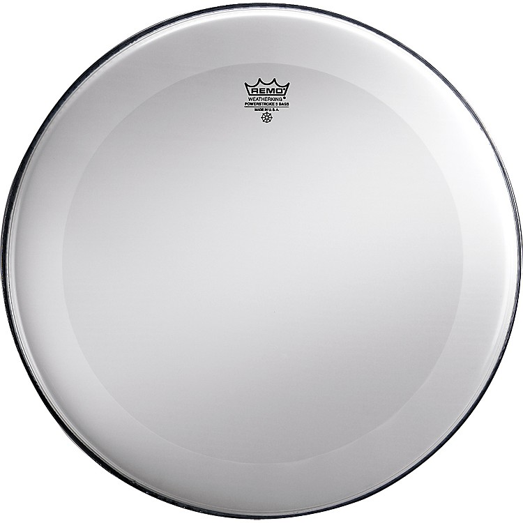 Remo Powerstroke 3 Smooth White No Stripe Bass Drum Head  22 Inch