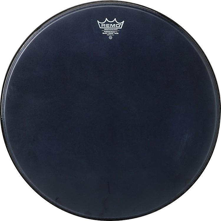 RemoPowerstroke Black Suede Bass Drum Batter Drumhead24