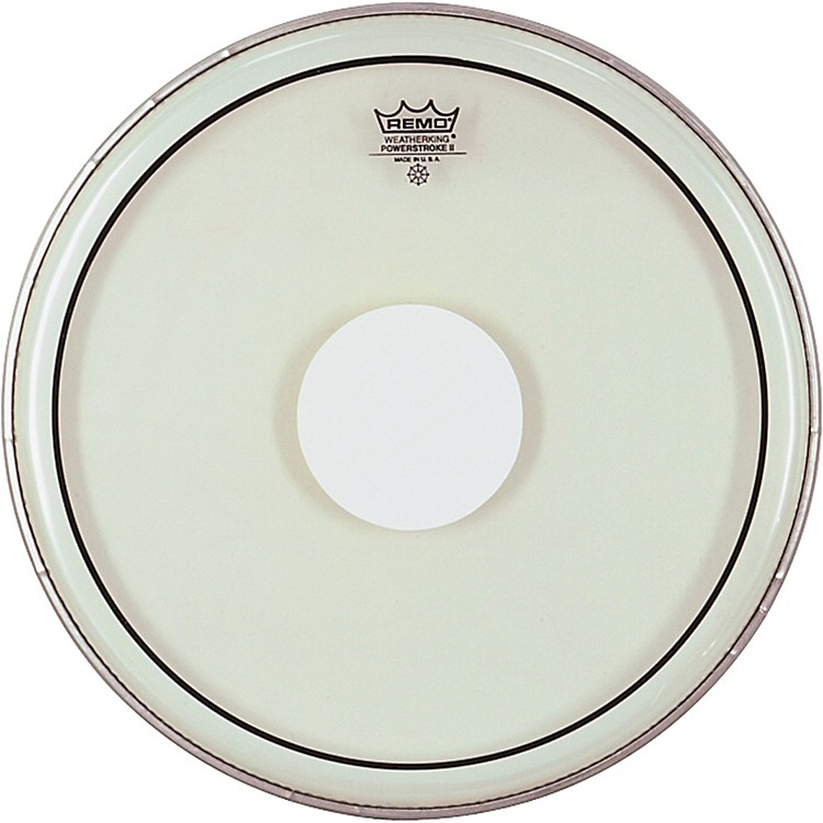 Remo Powerstroke II White Dot Single Ply Snare Batter Head  13 Inches
