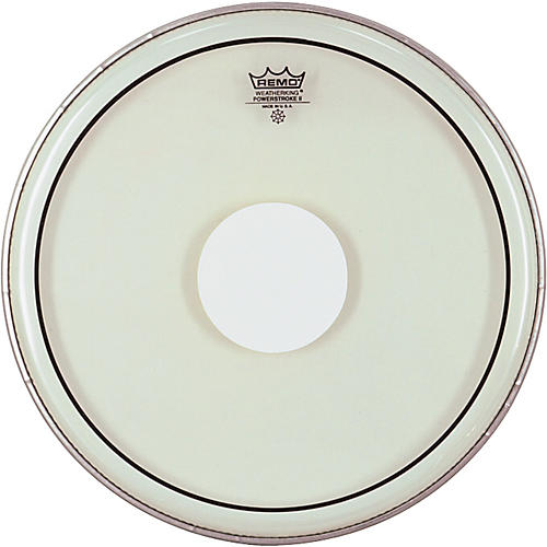 Remo Powerstroke II White Dot Single Ply Snare Batter Head  14 in.