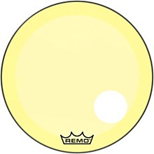 "Remo Powerstroke P3 Colortone Yellow Resonant Bass Drum Head 5"" Offset Hole"