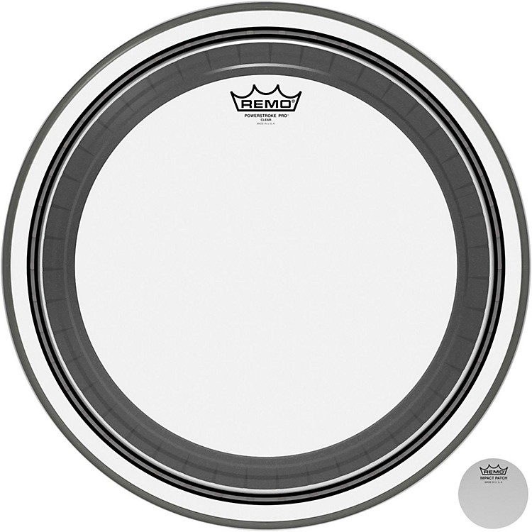 RemoPowerstroke Pro Bass Clear Drumhead
