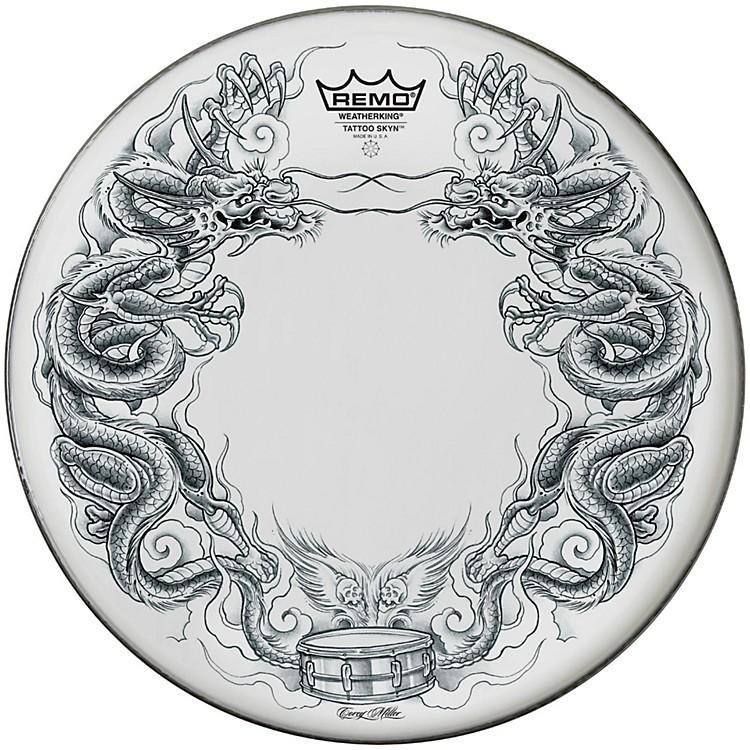 RemoPowerstroke Tattoo Skyn Bass Drumhead, White20 inchDragon Skyn Graphic