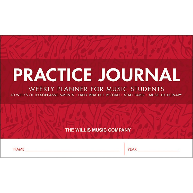 Willis MusicPractice Journal - Weekly Planner for Music Students