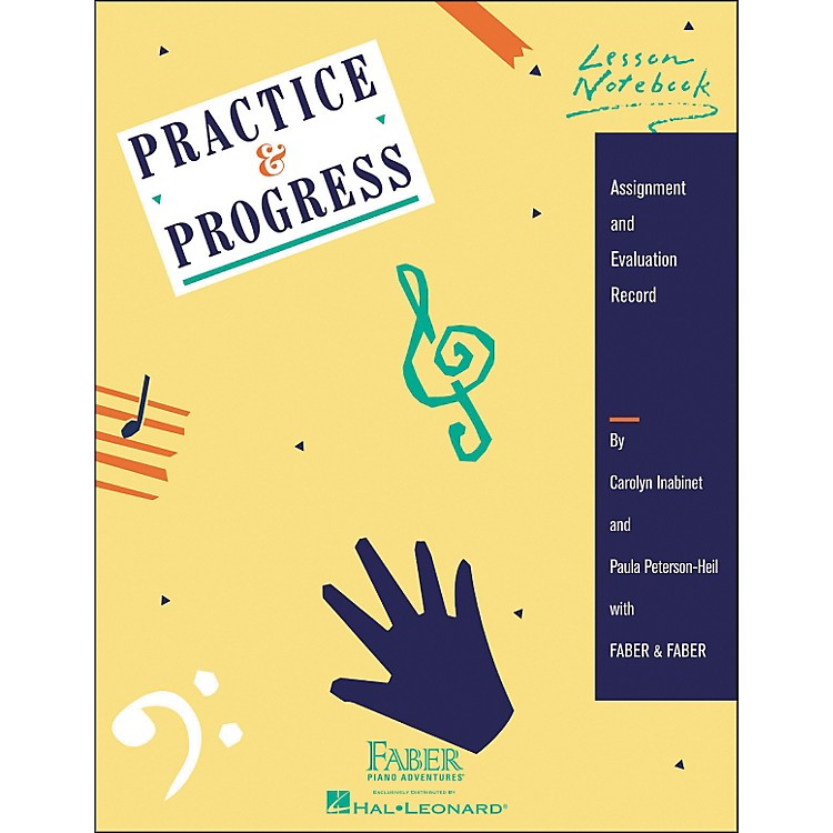 Faber Music Practice & Progress Lesson Notebook - Assignment And Evaluation Record - Faber Piano