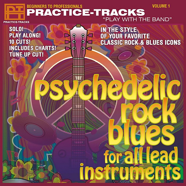Practice TracksPractice Tracks CD for All Instruments Psychedlic Rock/Blues