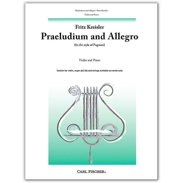 Carl FischerPraeludium And Allegro