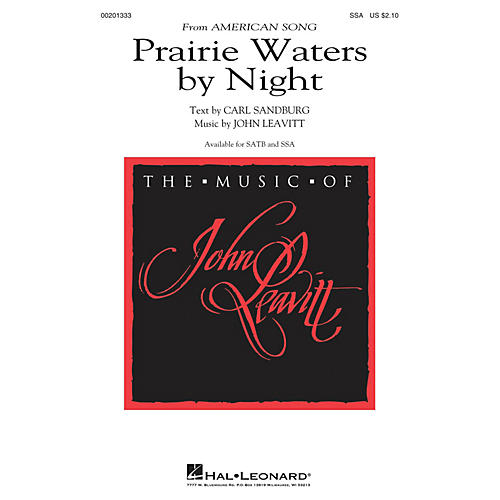 Hal Leonard Prairie Waters by Night (from American Song) SSA composed by John Leavitt