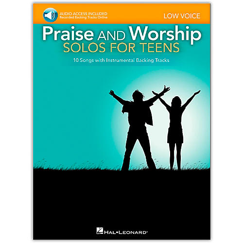 Hal Leonard Praise And Worship Solos For Teens - Low Voice - Book/Audio Acompaniment Backing Tracks-thumbnail