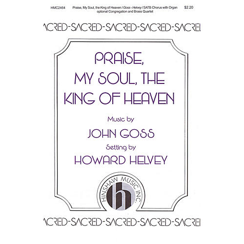 Hinshaw Music Praise, My Soul, the King of Heaven SATB arranged by Howard Helvey-thumbnail