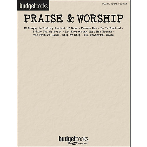 Hal Leonard Praise & Worship - Budget Books arranged for piano, vocal, and guitar (P/V/G)