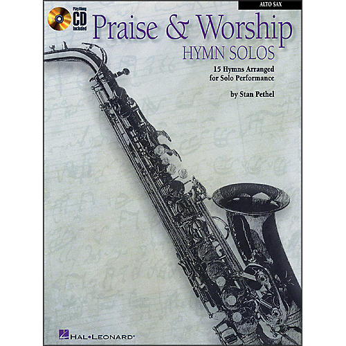 Hal Leonard Praise & Worship Hymn Solos - 15 Hymns Arranged for Solo Performance for Alto Sax Book/CD