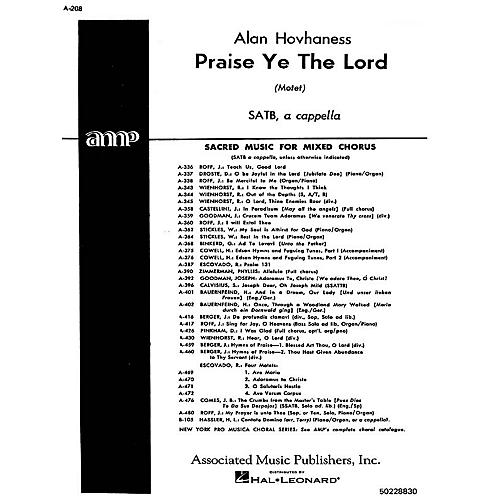 Associated Praise Ye The Lord  Motet A Cappella SATB composed by A Hovhaness-thumbnail
