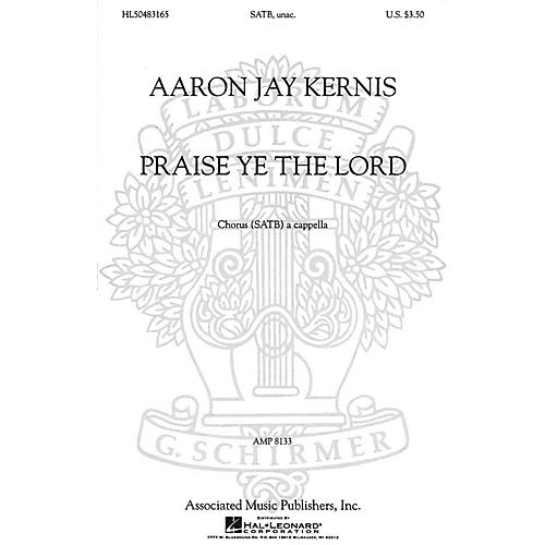 Associated Praise Ye the Lord (SSAATTBB a cappella) SSAATTBB A Cappella composed by Aaron Jay Kernis