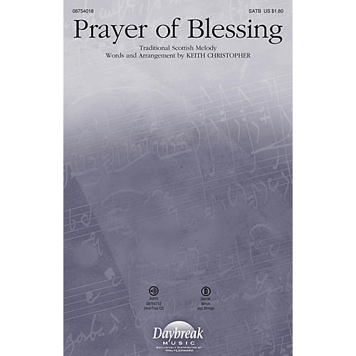 Daybreak Music Prayer of Blessing CHOIRTRAX CD Arranged by Keith Christopher