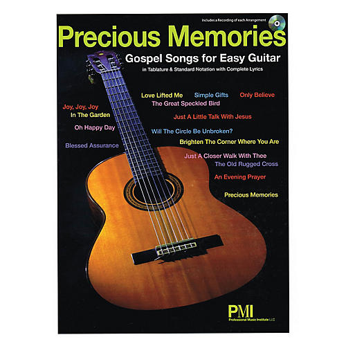 Professional Music Institute Precious Memories (Gospel Songs for Easy Guitar) Easy Guitar Series Softcover with CD-thumbnail