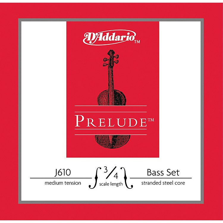 D'AddarioPrelude 3/4 Size Double Bass String Set