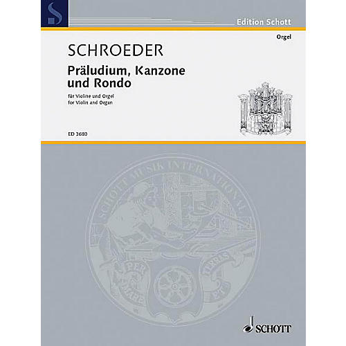 Schott Prelude Canon and Rondo Schott Series Composed by Hermann Schroeder-thumbnail