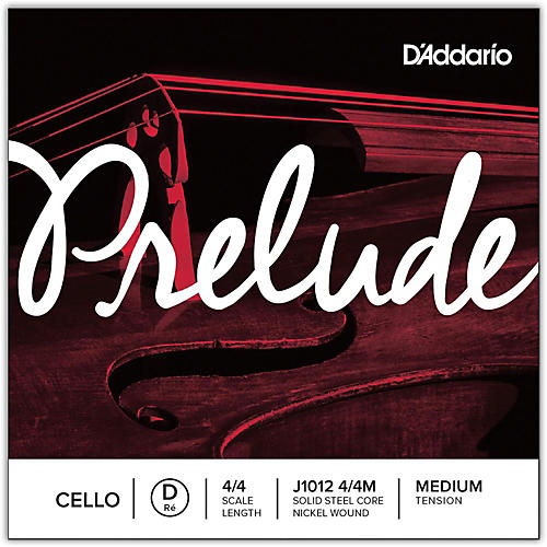 D'Addario Prelude Cello D String  4/4 Size Medium