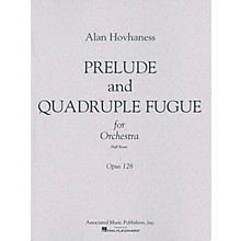 Associated Prelude & Quadruple Fugue, Op. 128 (Full Score) Study Score Series Composed by Alan Hovhaness