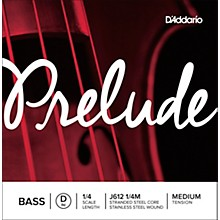 D'Addario Prelude Series Double Bass D String 1/4 Size