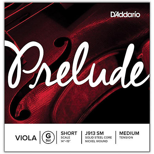 D'Addario Prelude Series Viola G String  13-14 Short Scale