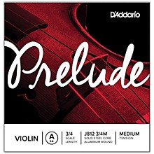 D'Addario Prelude Violin A String 3/4 Size