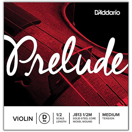 D'Addario Prelude Violin D String  1/2