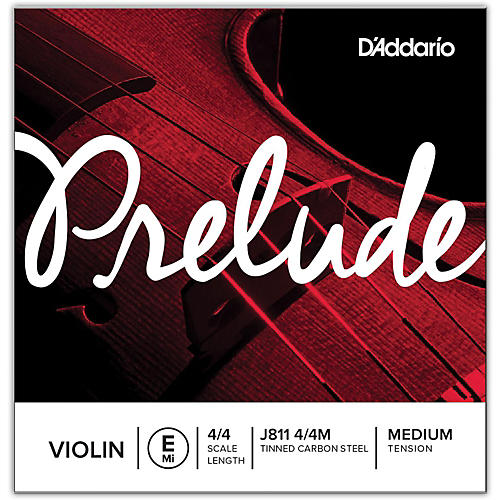 D'Addario Prelude Violin E String  4/4 Size Medium