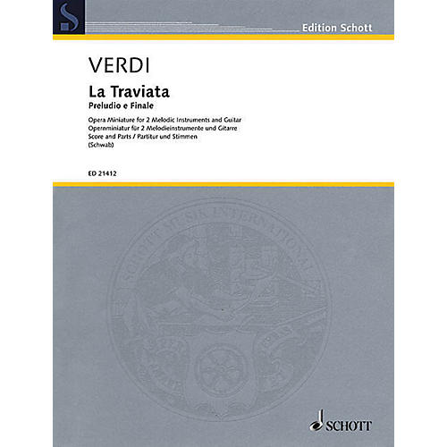 Schott Prelude and Finale Ensemble Series Softcover Composed by Giuseppe Verdi Arranged by Siegfried Schwab-thumbnail