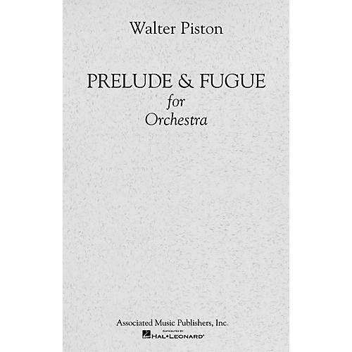 Associated Prelude and Fugue for Orchestra (Full Score) Study Score Series Composed by Walter Piston