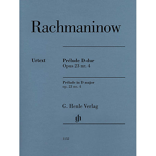 G. Henle Verlag Prelude in D Major Op. 23 No. 4 Henle Music Softcover by Rachmaninoff Edited by Dominik Rahmer