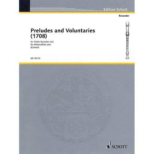 Schott Preludes and Voluntaries (for Treble Recorder) Schott Series